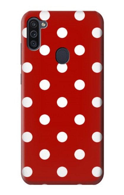S2951 Red Polka Dots Case For Samsung Galaxy M11
