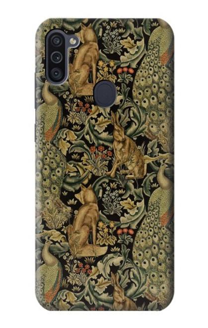 S3661 William Morris Forest Velvet Case For Samsung Galaxy M11