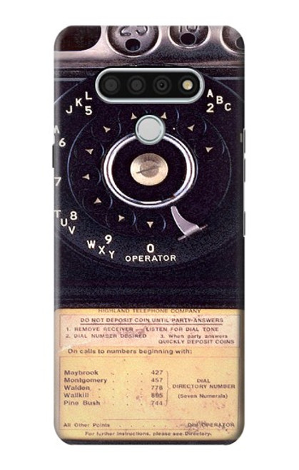 S0086 Payphone Vintage Case For LG Stylo 6