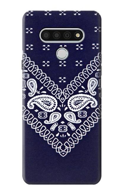S3357 Navy Blue Bandana Pattern Case For LG Stylo 6