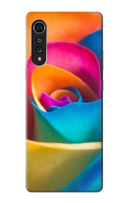 S1671 Rainbow Colorful Rose Case For LG Velvet