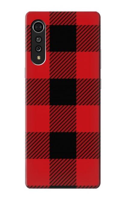 S2931 Red Buffalo Check Pattern Case For LG Velvet