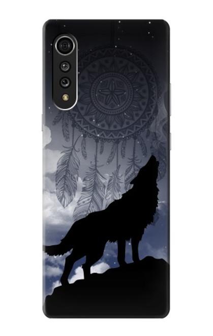 S3011 Dream Catcher Wolf Howling Case For LG Velvet