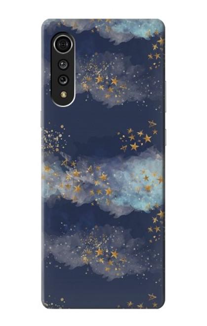 S3364 Gold Star Sky Case For LG Velvet