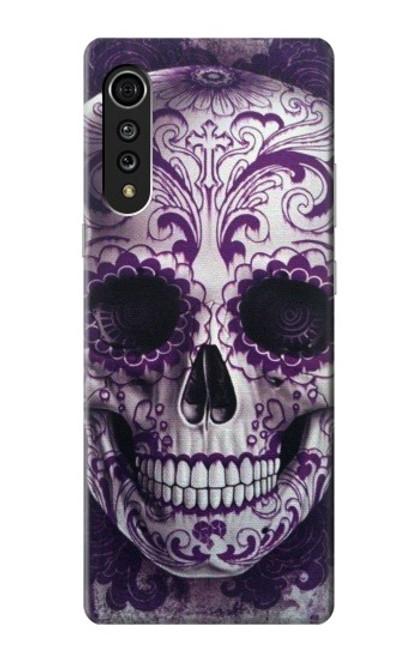 S3582 Purple Sugar Skull Case For LG Velvet