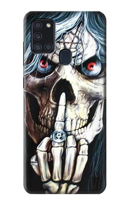 S0222 Skull Pentagram Case For Samsung Galaxy A21s