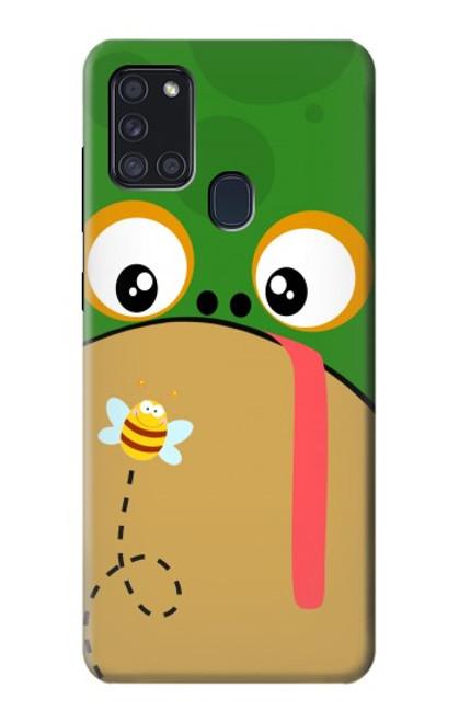 S2765 Frog Bee Cute Cartoon Case For Samsung Galaxy A21s