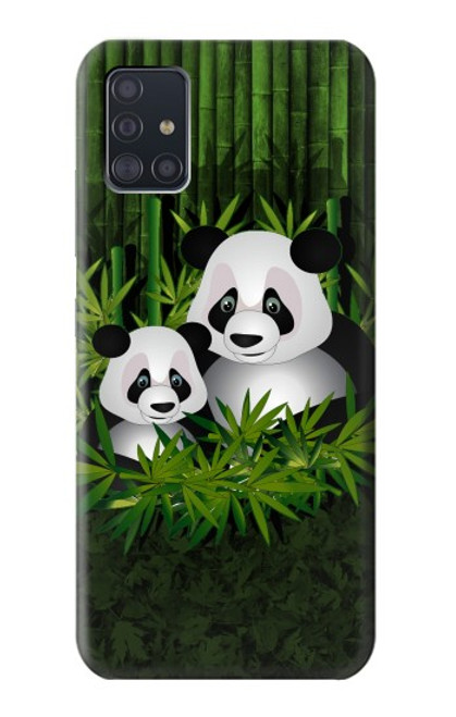 S2441 Panda Family Bamboo Forest Case For Samsung Galaxy A51 5G