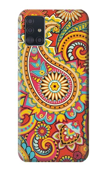 S3402 Floral Paisley Pattern Seamless Case For Samsung Galaxy A51 5G