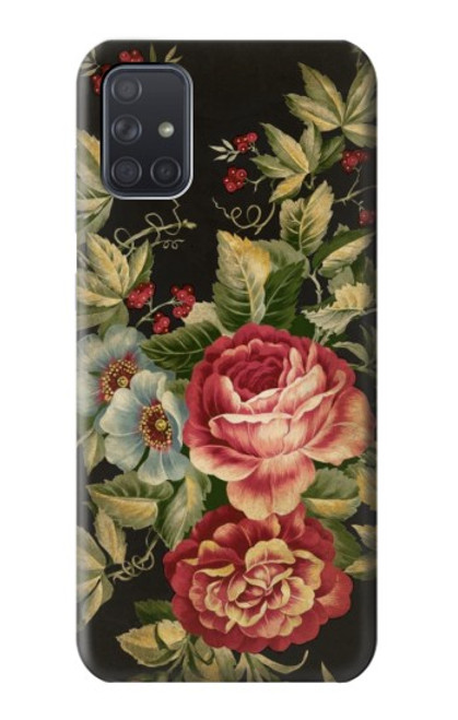 S3013 Vintage Antique Roses Case For Samsung Galaxy A71 5G