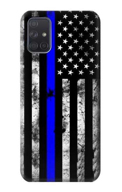 S3244 Thin Blue Line USA Case For Samsung Galaxy A71 5G