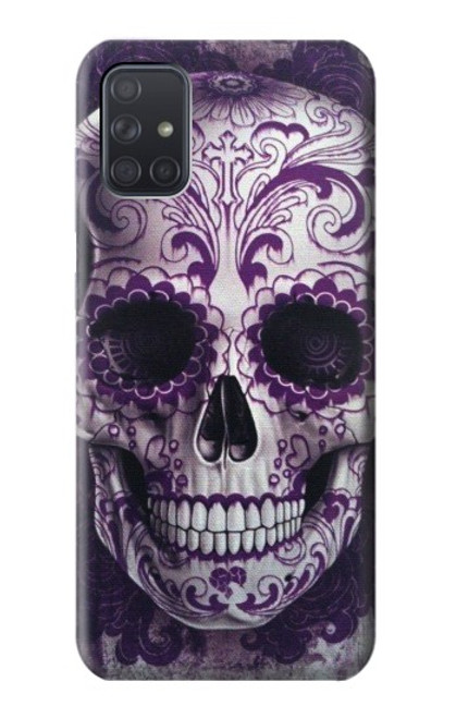 S3582 Purple Sugar Skull Case For Samsung Galaxy A71 5G