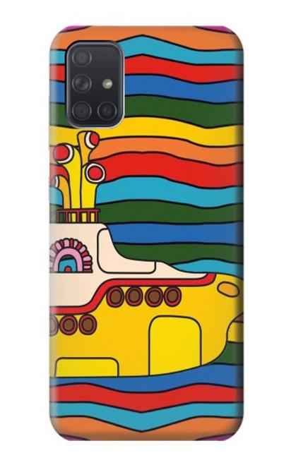 S3599 Hippie Yellow Submarine Case For Samsung Galaxy A71 5G