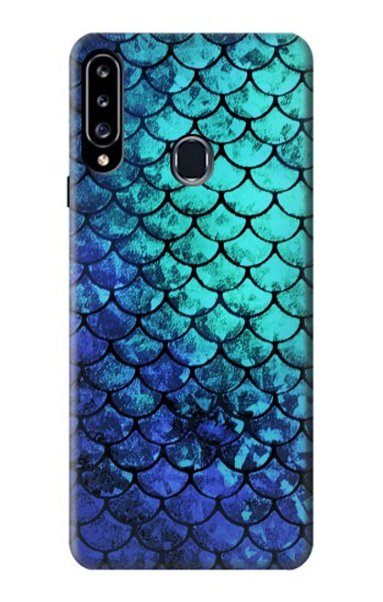 S3047 Green Mermaid Fish Scale Case For Samsung Galaxy A20s