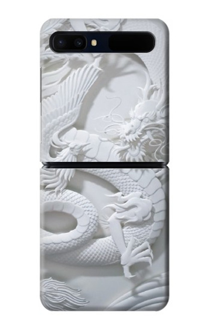 S0386 Dragon Carving Case For Samsung Galaxy Z Flip 5G