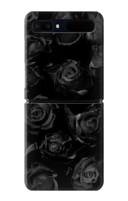 S3153 Black Roses Case For Samsung Galaxy Z Flip 5G