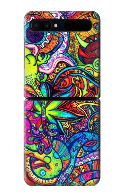 S3255 Colorful Art Pattern Case For Samsung Galaxy Z Flip 5G