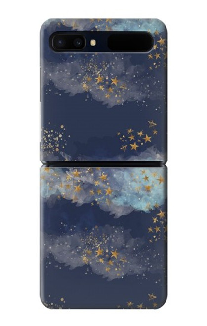 S3364 Gold Star Sky Case For Samsung Galaxy Z Flip 5G