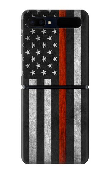 S3472 Firefighter Thin Red Line Flag Case For Samsung Galaxy Z Flip 5G