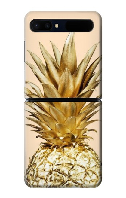 S3490 Gold Pineapple Case For Samsung Galaxy Z Flip 5G
