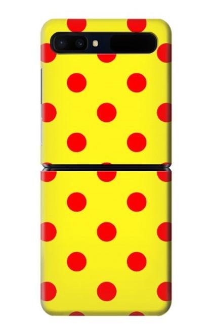 S3526 Red Spot Polka Dot Case For Samsung Galaxy Z Flip 5G