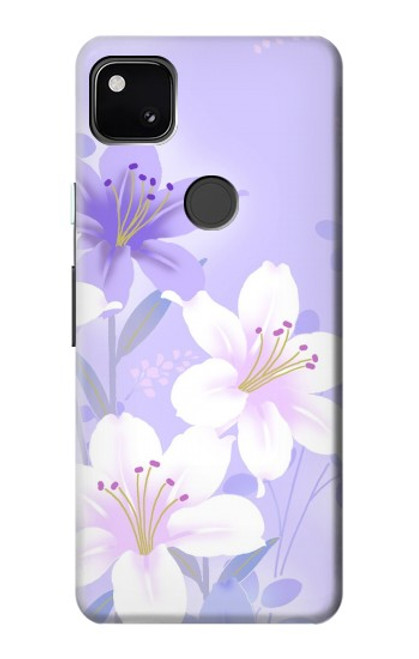 S2361 Purple White Flowers Case For Google Pixel 4a