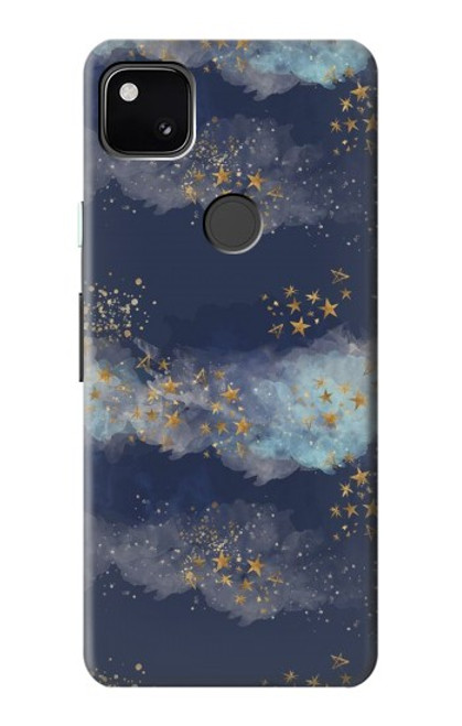 S3364 Gold Star Sky Case For Google Pixel 4a
