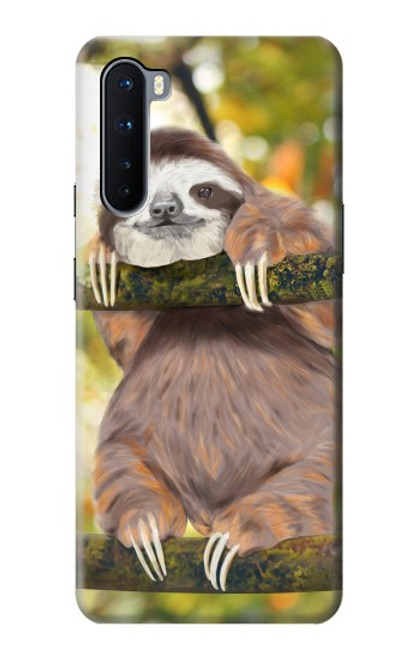 S3138 Cute Baby Sloth Paint Case For OnePlus Nord