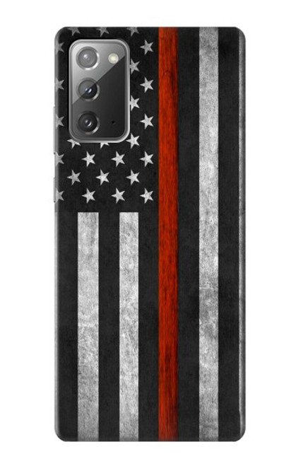 S3472 Firefighter Thin Red Line Flag Case For Samsung Galaxy Note 20