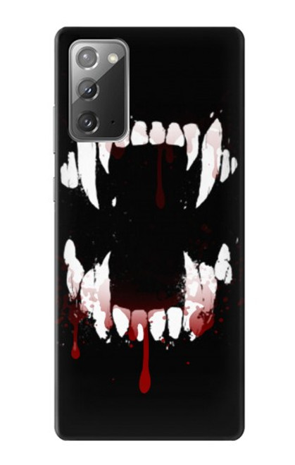 S3527 Vampire Teeth Bloodstain Case For Samsung Galaxy Note 20