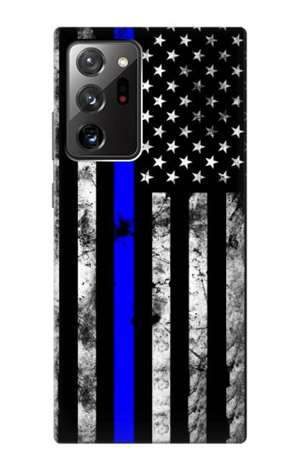S3244 Thin Blue Line USA Case For Samsung Galaxy Note 20 Ultra, Ultra 5G
