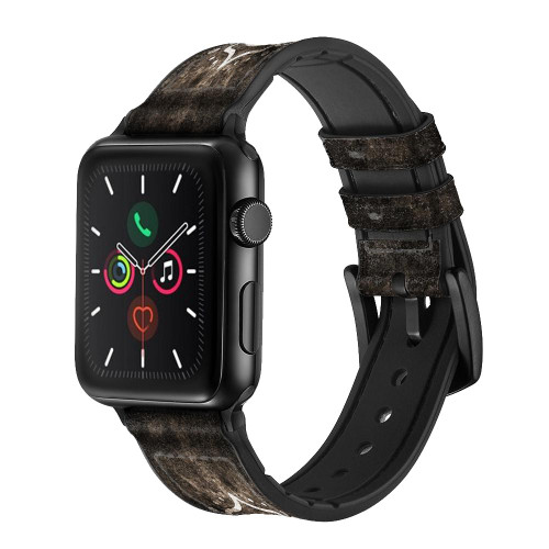 CA0497 Yoga Namaste Om Symbol Leather & Silicone Smart Watch Band Strap For Apple Watch iWatch