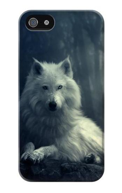 S1516 White Wolf Case Cover For IPHONE 5 5s SE