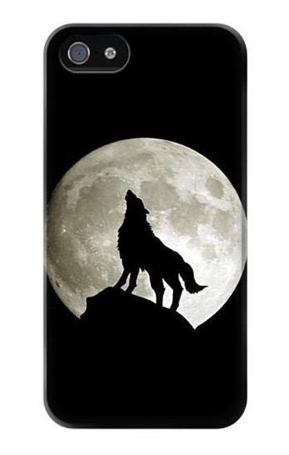 S1981 Wolf Howling at The Moon Case Cover For IPHONE 5 5s SE