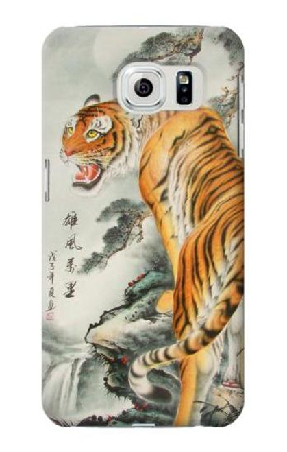 S1934 Chinese Tiger Painting Case For Samsung Galaxy S6 Edge