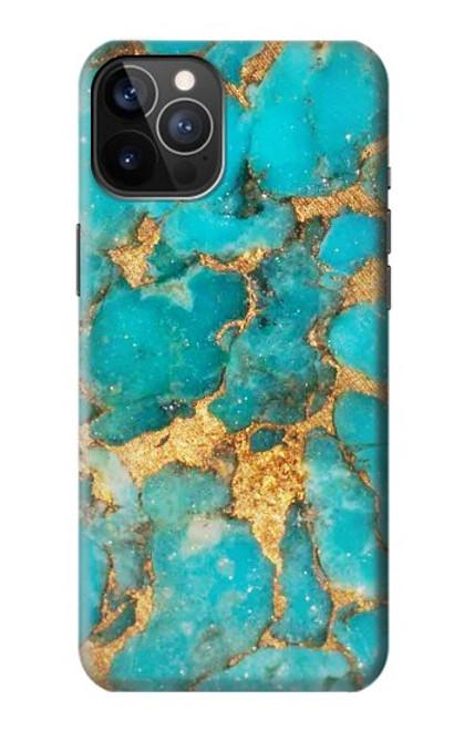 S2906 Aqua Turquoise Stone Case For iPhone 12, iPhone 12 Pro