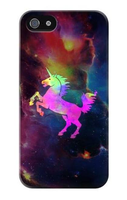 S2486 Rainbow Unicorn Nebula Space Case For IPHONE 5 5s SE