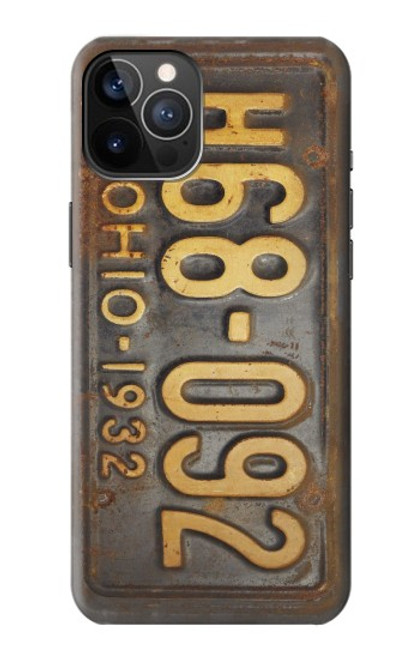 S3228 Vintage Car License Plate Case For iPhone 12, iPhone 12 Pro