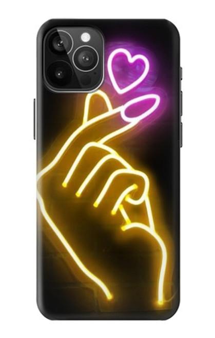 S3512 Cute Mini Heart Neon Graphic Case For iPhone 12 Pro Max