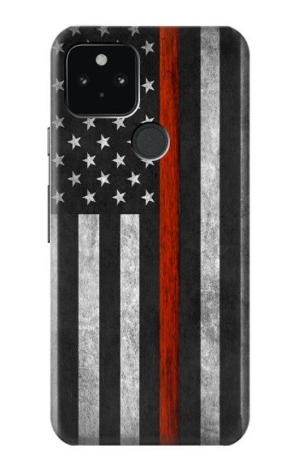 S3472 Firefighter Thin Red Line Flag Case For Google Pixel 5