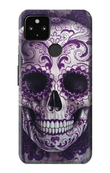 S3582 Purple Sugar Skull Case For Google Pixel 4a 5G