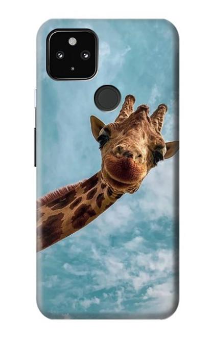S3680 Cute Smile Giraffe Case For Google Pixel 4a 5G