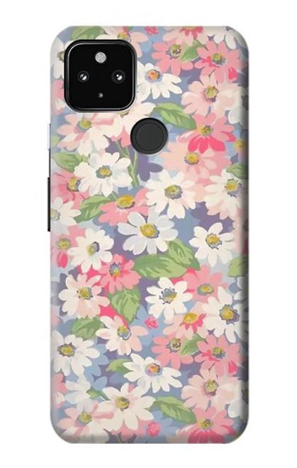 S3688 Floral Flower Art Pattern Case For Google Pixel 4a 5G