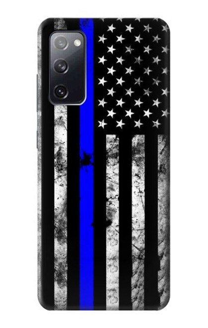 S3244 Thin Blue Line USA Case For Samsung Galaxy S20 FE
