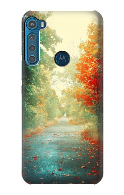 S0913 Road Through The Woods Case For Motorola One Fusion+