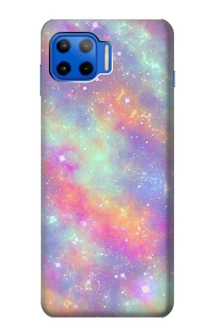 S3706 Pastel Rainbow Galaxy Pink Sky Case For Motorola Moto G 5G Plus