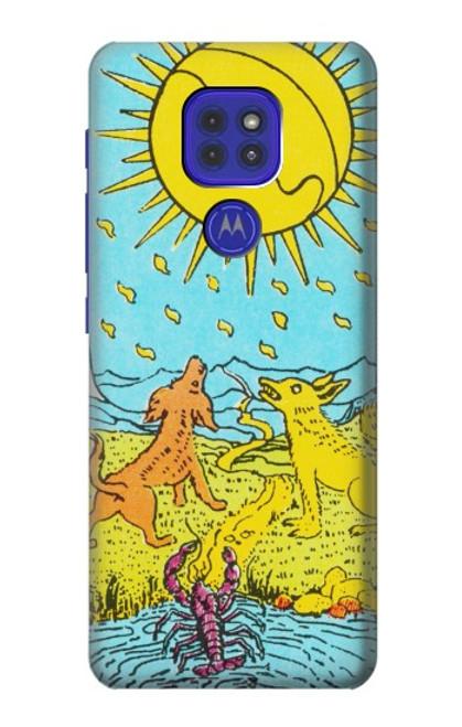 S3435 Tarot Card Moon Case For Motorola Moto G9 Play