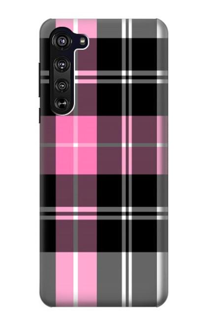 S3091 Pink Plaid Pattern Case For Motorola Edge