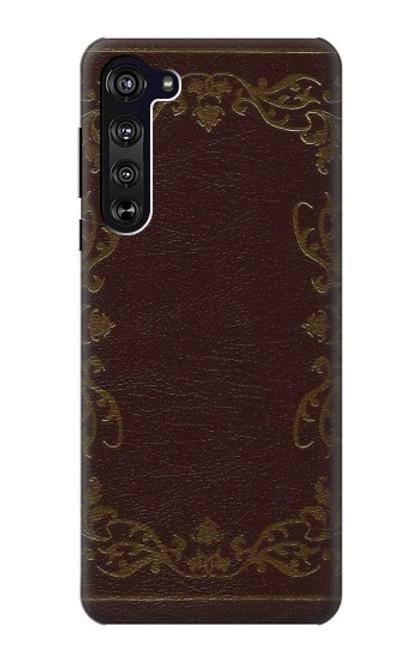 S3553 Vintage Book Cover Case For Motorola Edge