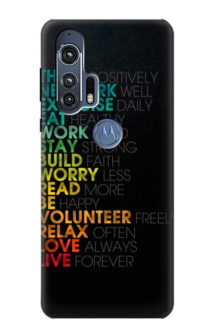 S3523 Think Positive Words Quotes Case For Motorola Edge+